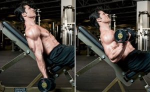 incline bench curl