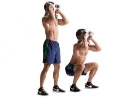 DB front squat